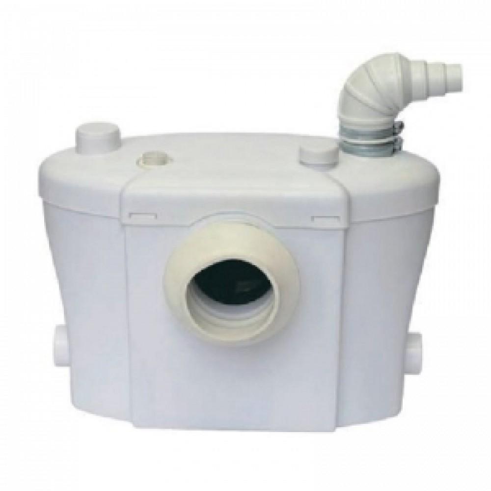 Санитарный насос с измельчителем для отвода из унитаза, раковины и душ (ванны) 400Вт до 8м, до 145л/мин AM-STP-400UP