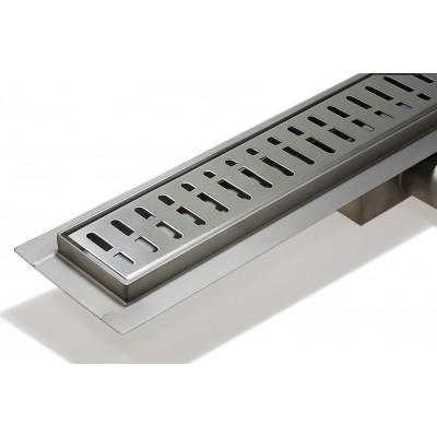 Трап-лоток с гориз. (гидро+сухая защита от запаха) (решетка с квад. ячейкой) 55см BAD425502