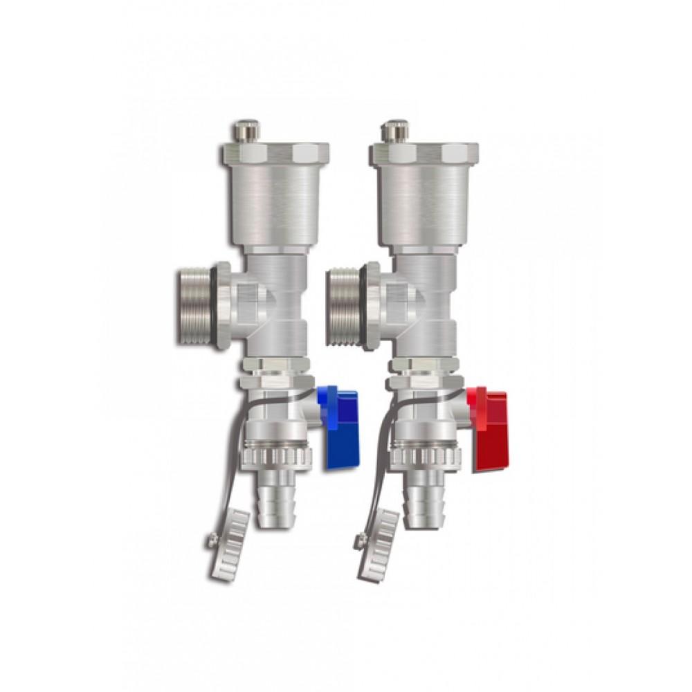 Торцевой набор для коллекторной группы(Тройник+автовоздухоотводчик+сливной кран) M306-4