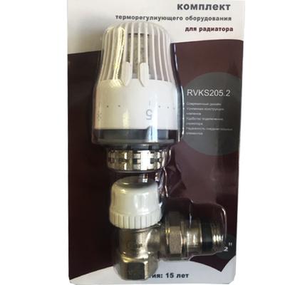 "Термостатический клапан с головкой (БЫСТРОГО МОНТАЖА) 1/2"" RVKS205.02"
