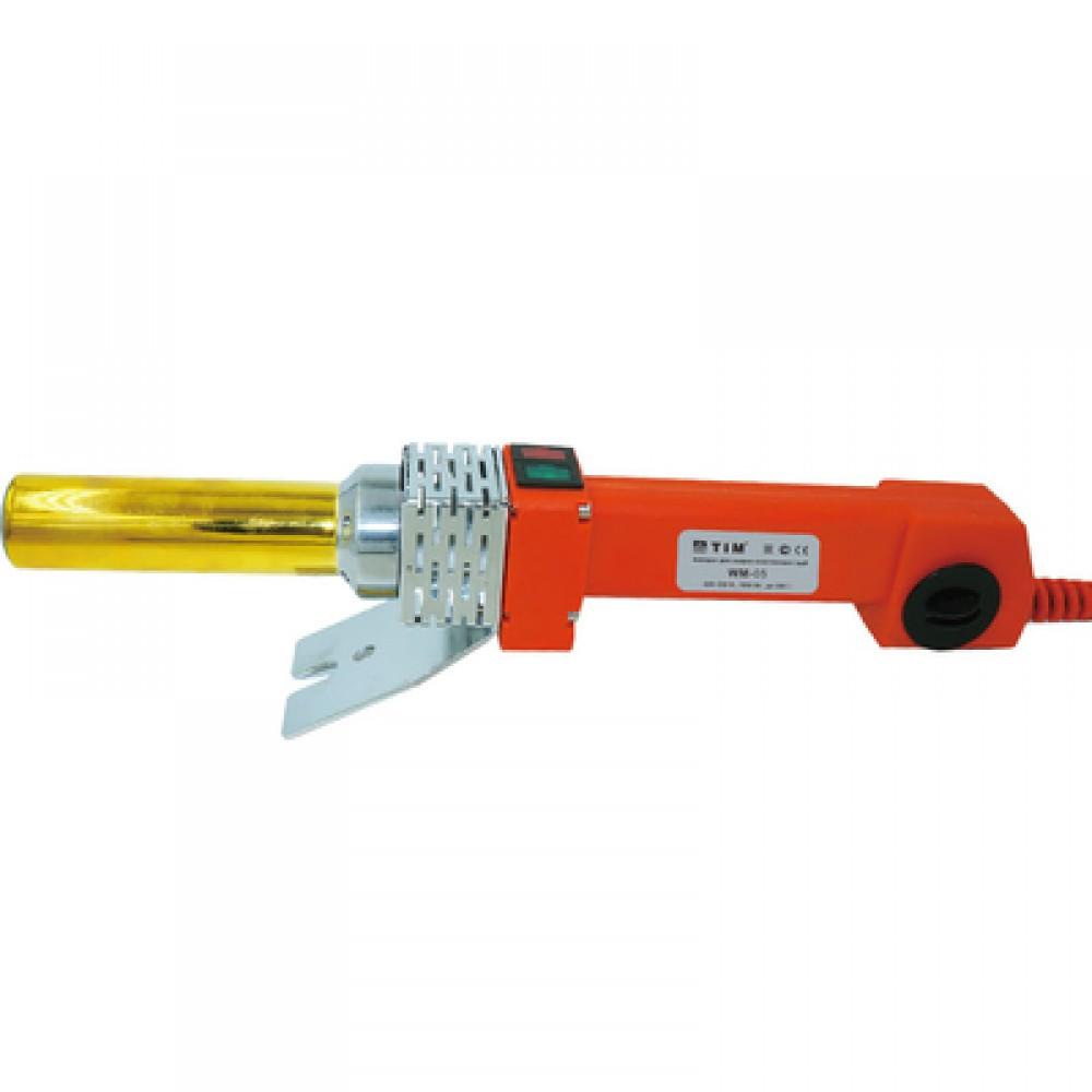 Паяльник для подготовки соединения ППР труб и фитингов мощ-ть 1800Вт, 16-32мм трубчатный TIM WM-05