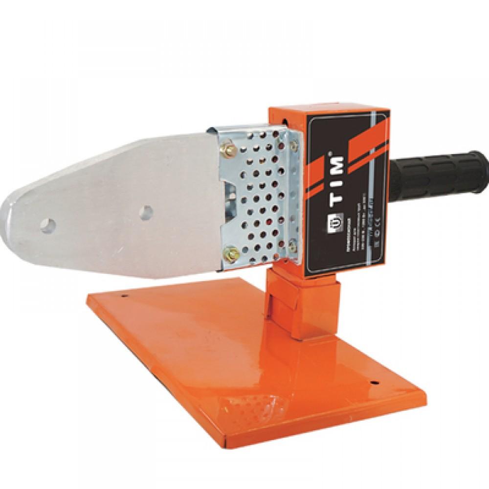 Паяльник для подготовки соединения ППР труб и фитингов мощ-ть 800Вт, 20-40мм, 4 насадки TIM WM-10D
