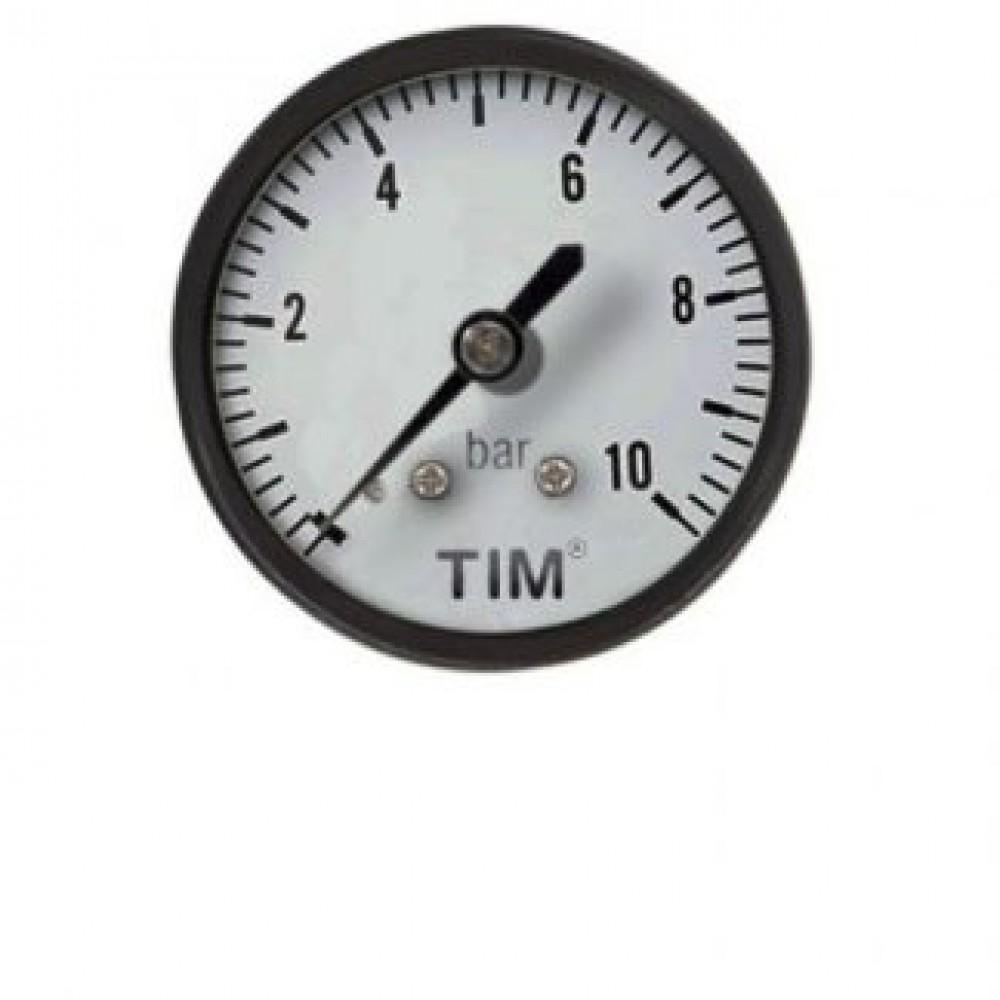 Манометр 10 бар вертикальный TIM